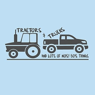 SweetumsWallDecals Tractors and Trucks Wall Decal; Dark Gray