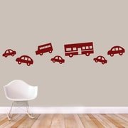 SweetumsWallDecals 7 Piece Traffic Wall Decal Set; Cranberry