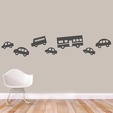 SweetumsWallDecals 7 Piece Traffic Wall Decal Set; Dark Gray