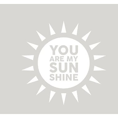 SweetumsWallDecals You Are My Sunshine Wall Decal; White