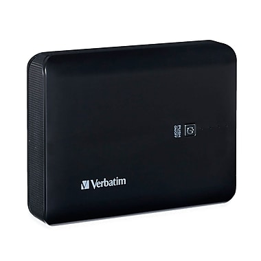 Verbatim Dual USB Power Pack, 10400 mAh, Black (99208)