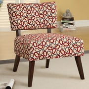 A&J Homes Studio Fabric Side Chair; Red