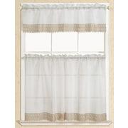 RT Designer's Collection Evie Macrame Kitchen Curtain; Beige