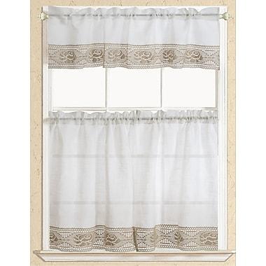 RT Designer's Collection Eden Macrame Kitchen Curtain; Beige