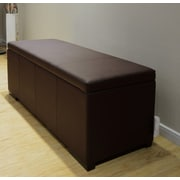 Greatime Big Storage Ottoman; Dark Brown