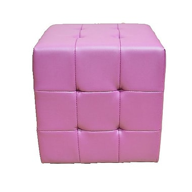 Greatime Tufted Cube Ottoman; Purple