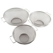 Home Basics 3 Piece Stainless Steel Mesh Strainer Set