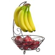 Home Basics Bronze Fruit Basket w/ Banana Tree