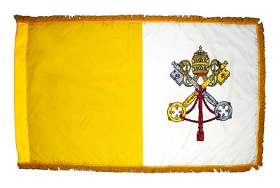 Annin Flagmakers Colonial Papal Vatican Flag; 36'' H x 60'' W