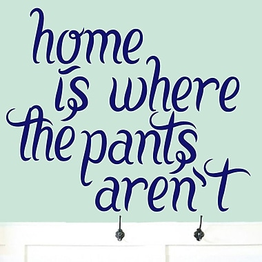 SweetumsWallDecals Home Is Where the Pant Aren't Wall Decal; Navy