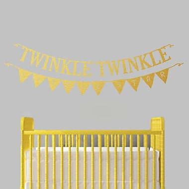 SweetumsWallDecals Twinkle Twinkle Little Star Banner Wall Decal; Gold