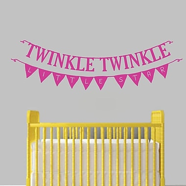 SweetumsWallDecals Twinkle Twinkle Little Star Banner Wall Decal; Hot Pink