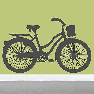 SweetumsWallDecals Vintage Cruiser Bike Wall Decal; Dark Gray