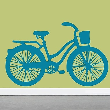 SweetumsWallDecals Vintage Cruiser Bike Wall Decal; Teal