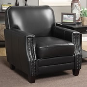 AC Pacific Calanthe Full Grain Leather Club Chair; Black