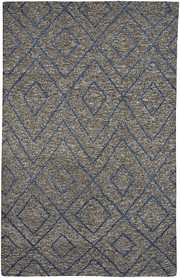 Capel Fortress Hand-Knotted Gray Area Rug; 8' x 11'