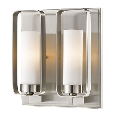 Z-Lite Aideen 2-Light Wall Sconce; Brushed Nickel
