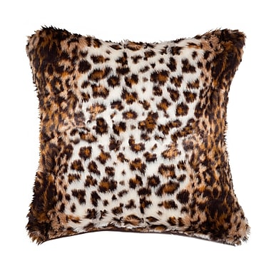 Luxe Faux Hide Throw Pillow