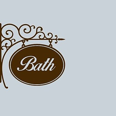 SweetumsWallDecals Bath Sign Wall Decal; Brown