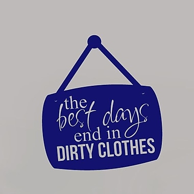 SweetumsWallDecals Best Day End in Dirty Cloth Wall Decal; Navy