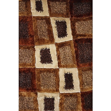 Rug Factory Plus Hand-Tufted Brown Hand Rug