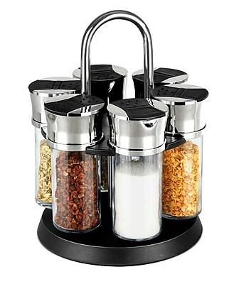 Home Basics Revolving 6 Jar Spice Jar