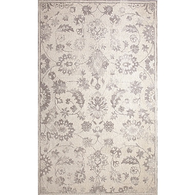 Bungalow Rose Montoya Hand-Tufted Ivory/Silver Area Rug; 5' x 8'