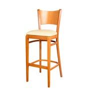 Benkel Seating Triangle 30'' Bar Stool; Cherry