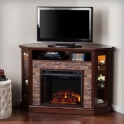 Alcott Hill Montpelier Corner Convertible Electric Fireplace; Espresso