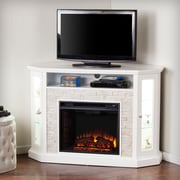 Alcott Hill Montpelier Corner Convertible Electric Fireplace; White