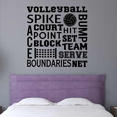 Enchantingly Elegant Volleyball Sports Wall Decal; 16'' H x 16'' W x 1'' D