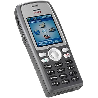 Cisco® 7925G Unified 6 Lines Handheld IP Phone, Gray/Silver