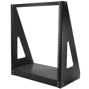 StarTech® 16U Floor/Desktop Heavy-Duty 2-Post Rack Frame, Black (2POSTRACK16)