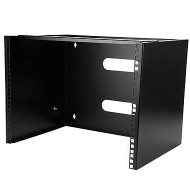 StarTech® 8U Wall Mounting Bracket, Black (WALLMOUNT8)