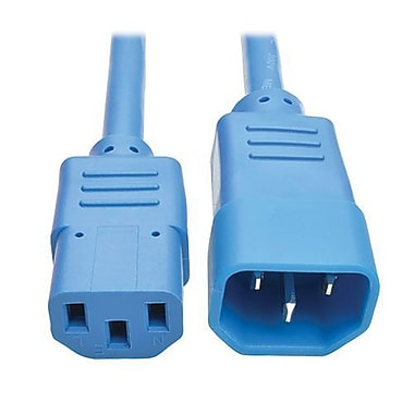 Tripp Lite 6' IEC-320-C13 to IEC-320-C14 Female/Male Heavy-Duty Power Extension Cord, Blue (P005-006-ABL)