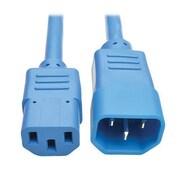 Tripp Lite 3' IEC-320-C13 to IEC-320-C14 Female/Male Heavy-Duty Power Extension Cord, Blue (P005-003-ABL)
