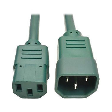 Tripp Lite 6' IEC-320-C13 to IEC-320-C14 Female/Male Heavy-Duty Power Extension Cord, Green (P005-006-AGN)