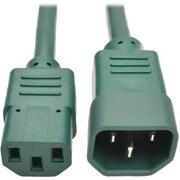 Tripp Lite 6' IEC-320-C13 to IEC-320-C14 Female/Male Heavy-Duty Power Extension Cord, Green (P005-006-AGN)