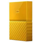 WD® My Passport 4TB Portable External Hard Drive, Yellow (WDBYFT0040BYL-WESN)