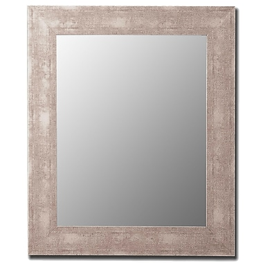 Hitchcock Butterfield Company Aosta Silver Framed Wall Mirror; 54'' H x 42'' W
