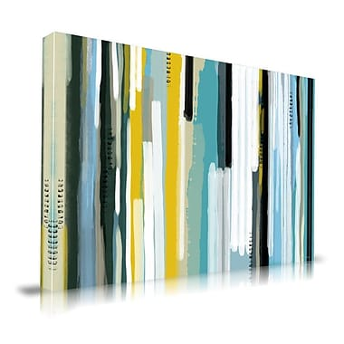Latitude Run 'Ocean Abstract' Painting Print on Wrapped Canvas; 16'' H x 20'' W