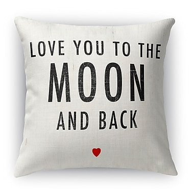 Kavka Love You to the Moon and Back Indoor Throw Pillow; 16'' H x 16'' W