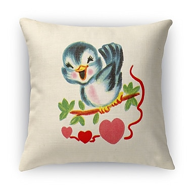 Kavka Tweet Heart Indoor Throw Pillow; 16'' H x 16'' W