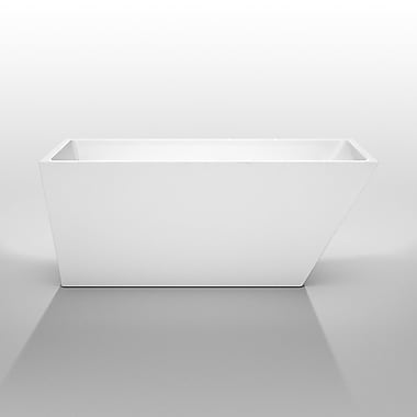 Wyndham Collection Hannah 59'' x 29.5'' Soaking Bathtub; Chrome
