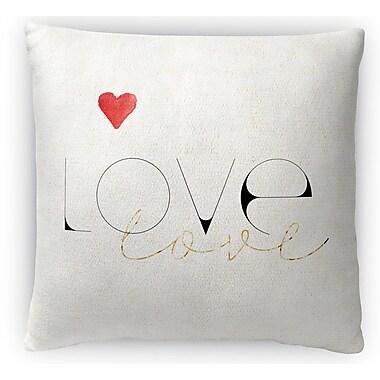 Kavka Love Love Fleece Throw Pillow; 16'' H x 16'' W