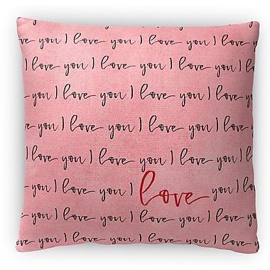 Kavka I Love You Fleece Throw Pillow; 16'' H x 16'' W