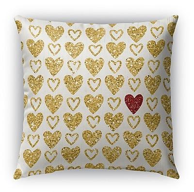 Kavka Heart Book Burlap Indoor/Outdoor Throw Pillow; 18'' H x 18'' W