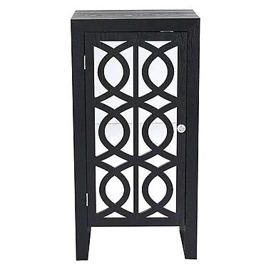 Heather Ann 1 Door Cabinet; Black