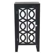 Heather Ann 1 Door Cabinet; Black