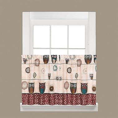 Saturday Knight Spice Owl Tier Curtain; 24'' H x 57'' W